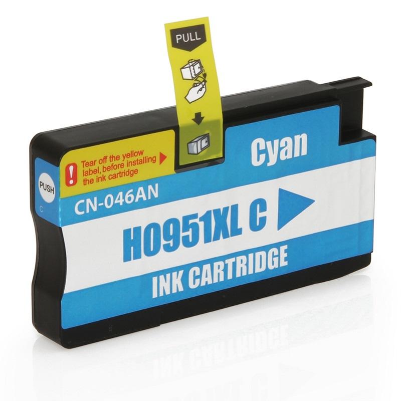 Cartucho HP 951xl Ciano para OfficeJet 8100 8600 Compativel