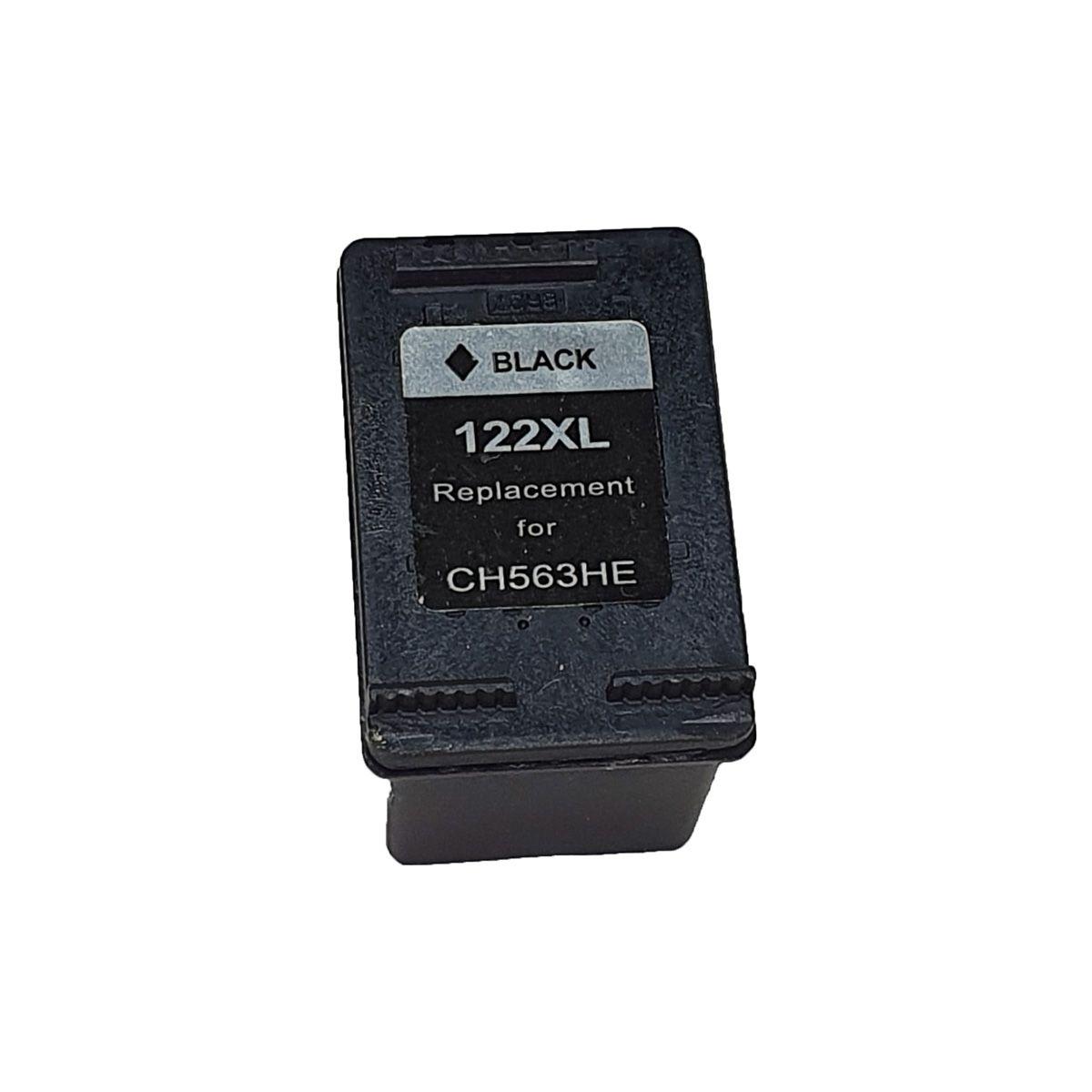 Cartucho MJ Compatível 122XL Preto 12ml para D1000 D2050 D3050 2050 da HP