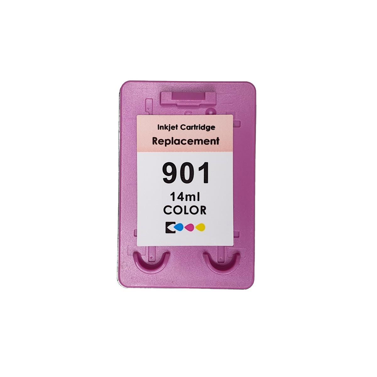 Cartucho MJ Compatível HP901XL Colorido 14ml para J4540 J4550 J4580 J4680 J4660 da HP