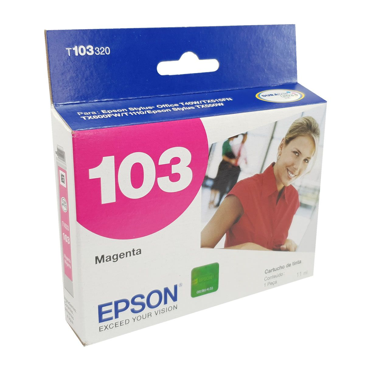 Cartucho EPSON T103320 T103 103 Magenta para T40W TX600FW TX550W