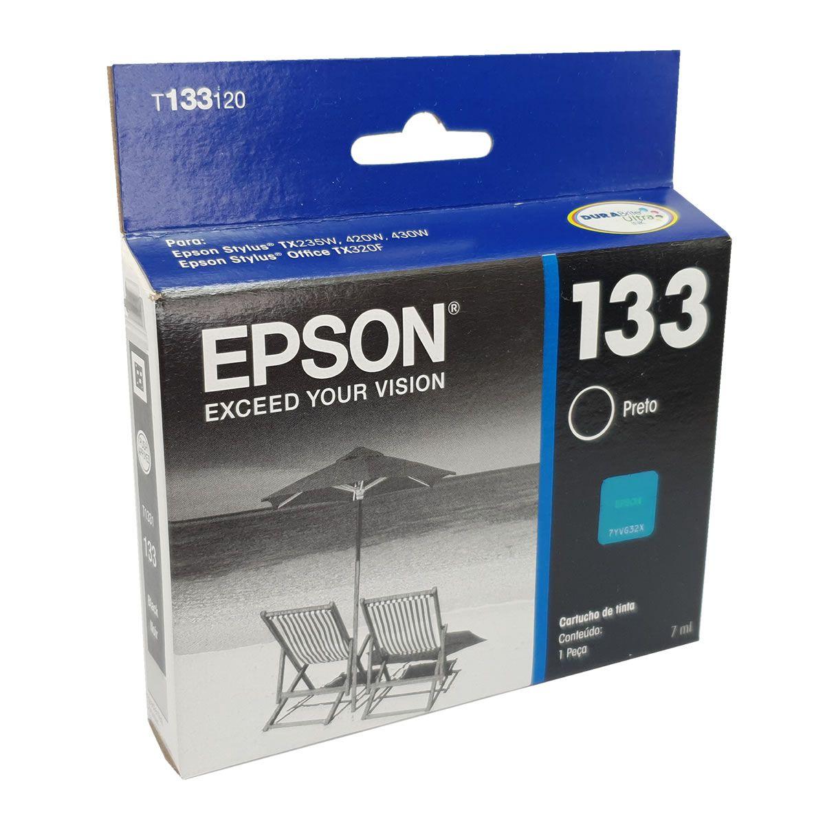 Cartucho T1331 133 preto original Epson para T25 TX235W TX420W TX430W TX320F