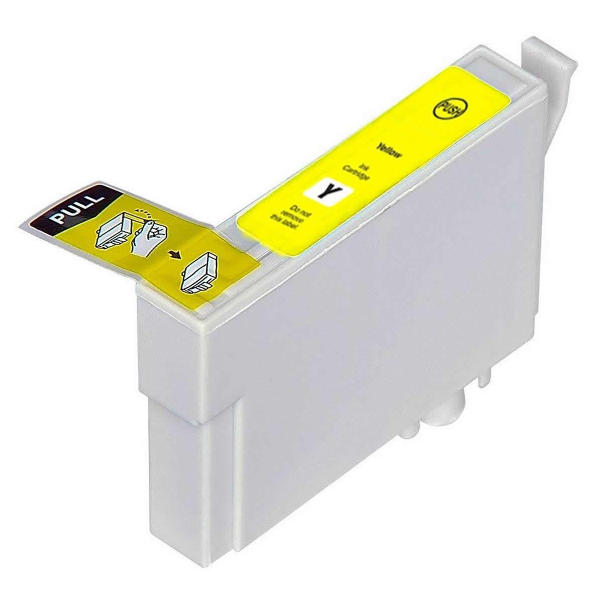 Cartucho T194 T194420 T1944 T196 T196420 T1964 Amarelo Compatível para EPSON XP104 XP204 XP214