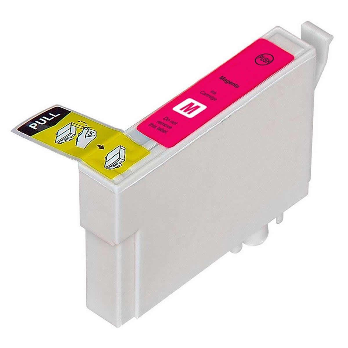 Cartucho TO633 Magenta Compatível para Epson C67 C87 CX3700 CX4100 CX4700 CX5700F CX7700