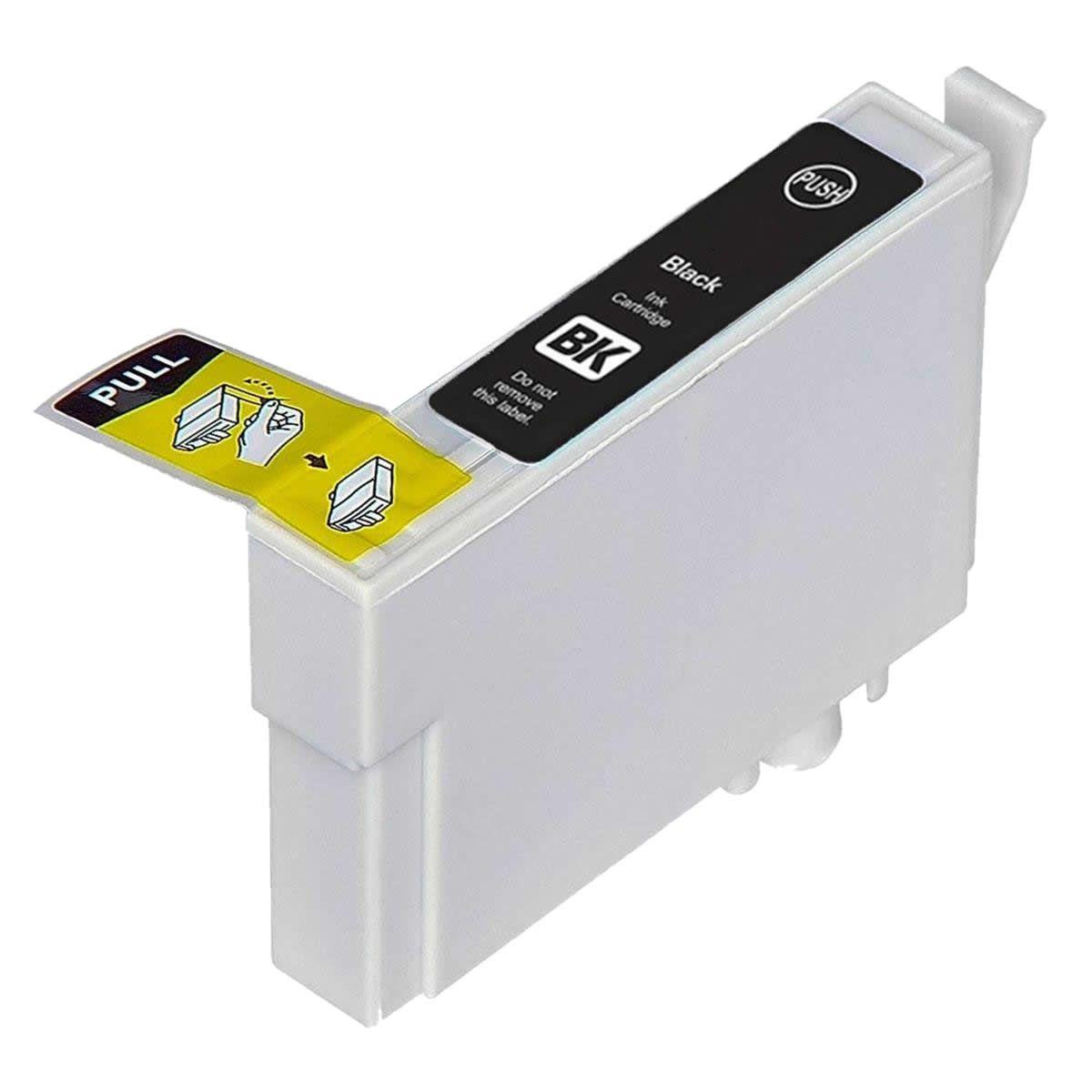 Cartucho MJ Compatível TO821 Preto para R270 R290 T50 da EPSON