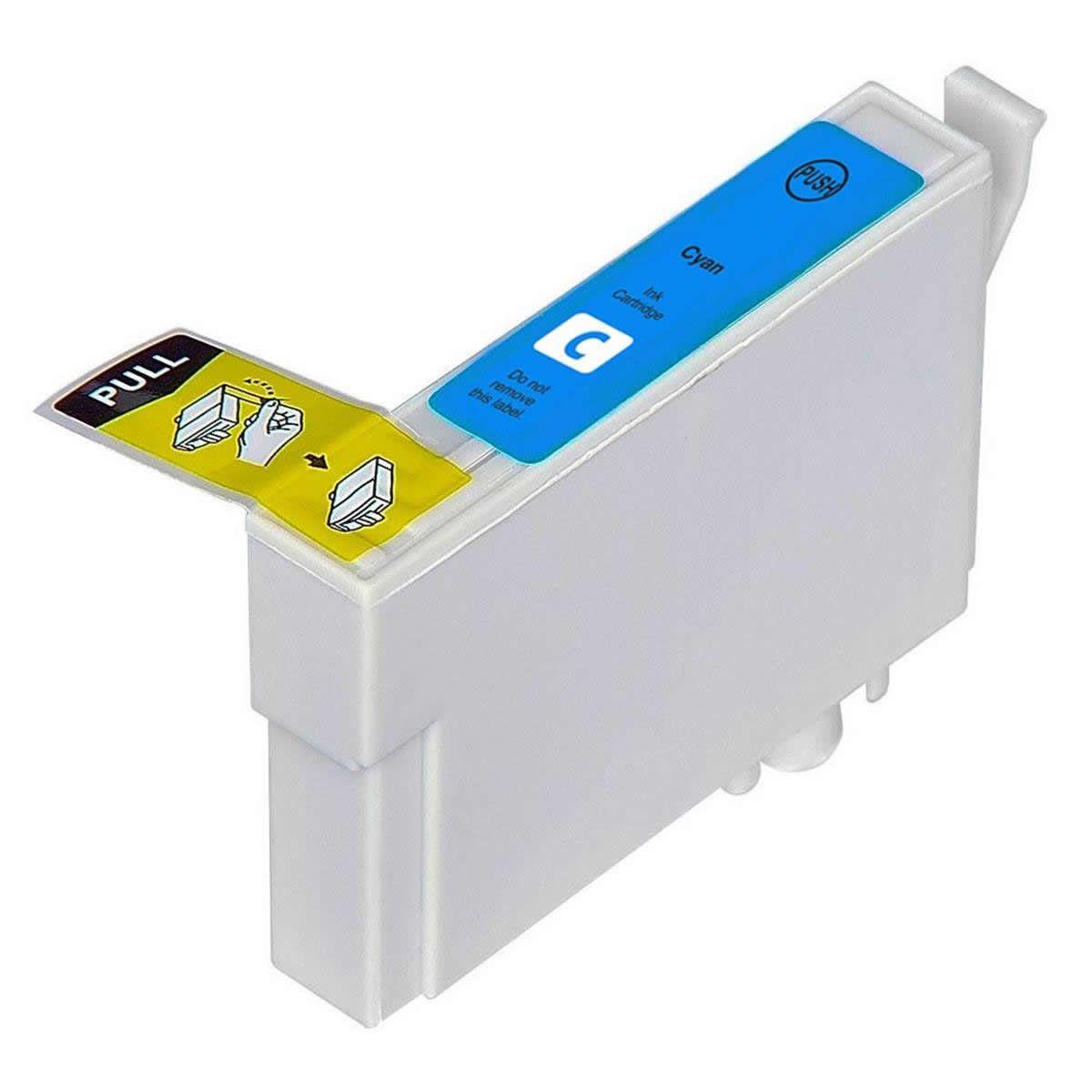 Cartucho MJ Compatível TO822 Ciano para R270 R290 T50 da EPSON
