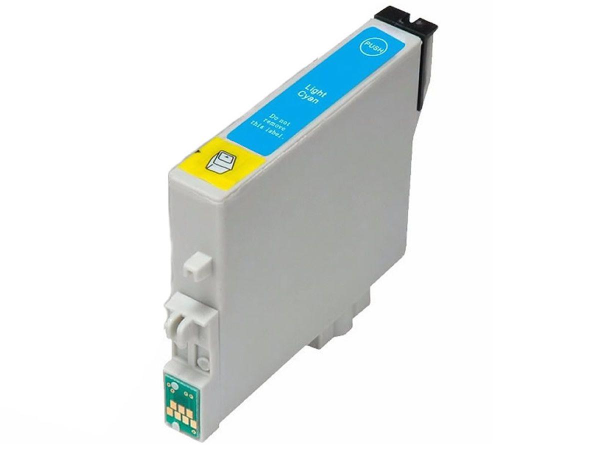 Cartucho MJ Compatível TO825 Ciano Light para R270 R290 T50 da EPSON