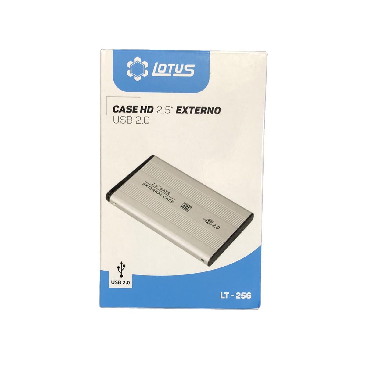 Case para HD Externo 2.5 Polegadas USB 2.0 LT-256 Lotus