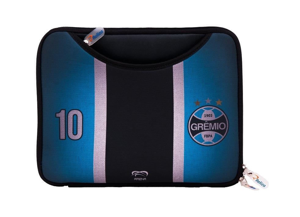 Case para Ipad Tablet 10 pol Gremio Tradicional Futebol Neoprene com Bolso