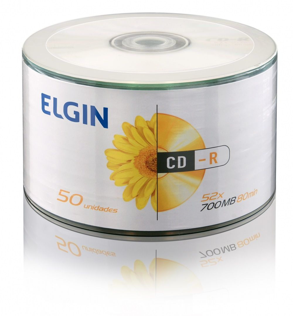 CD-R 50 Midias com Logo Elgin