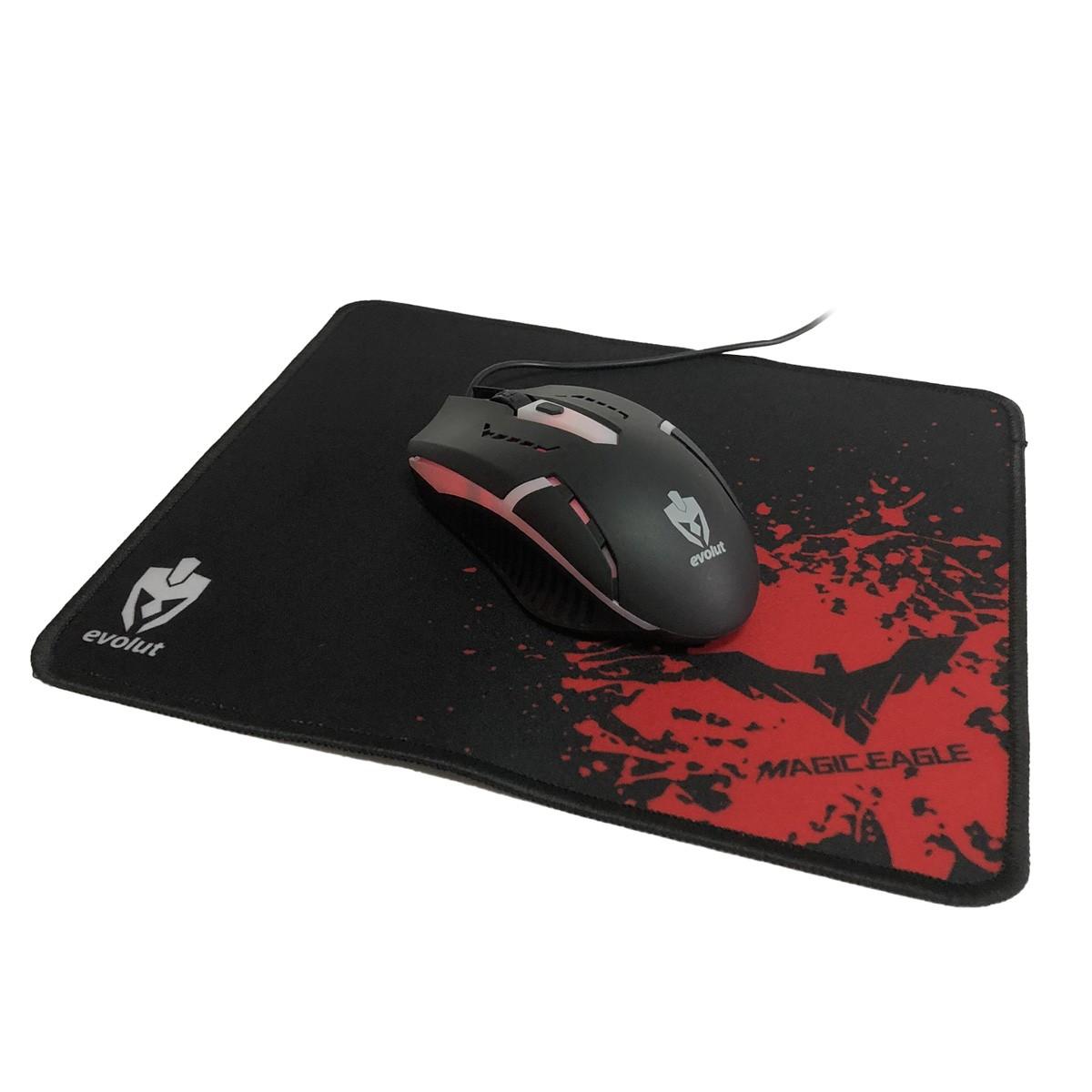 Kit Gamer Teclado Mouse Mousepad Headset Starter EG-51 Evolut