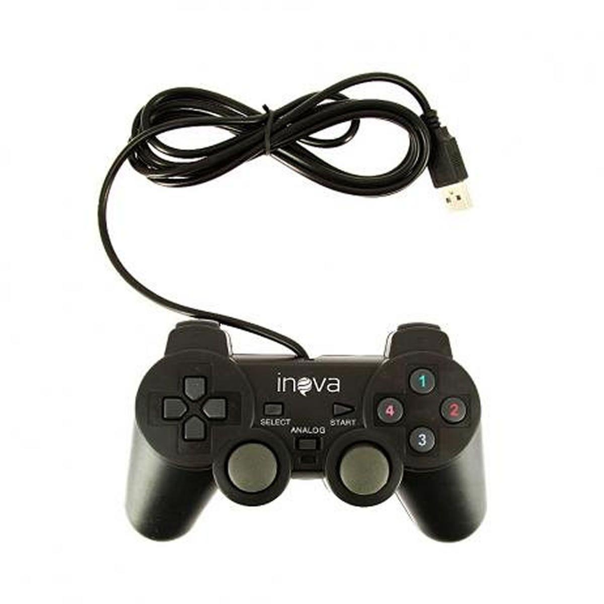 Joystick Controle com fio USB para jogos em PC Inova