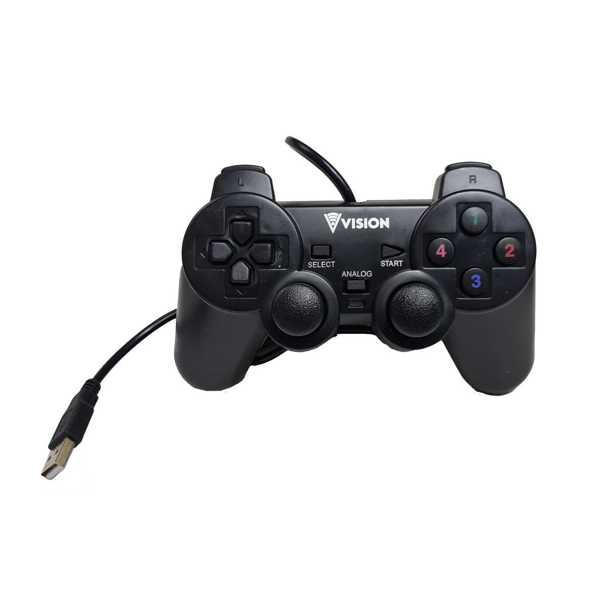 Controle Double Shock 2 para USB 2.0 PC Notebook YT2019 Vision