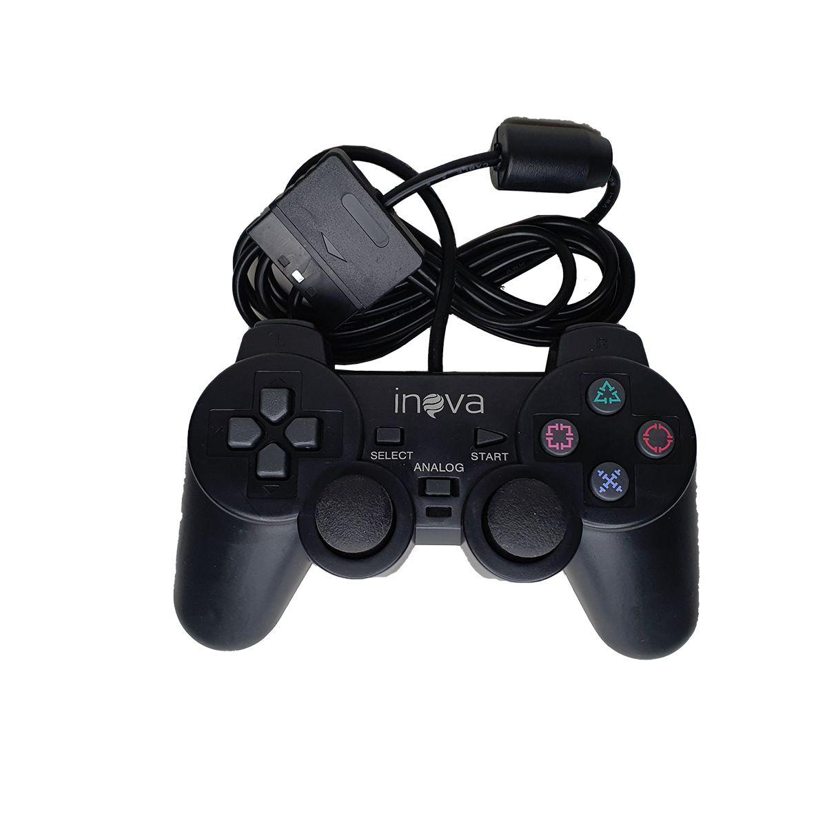 Controle JoyStick Play Dual Schock CON-8302 Inova