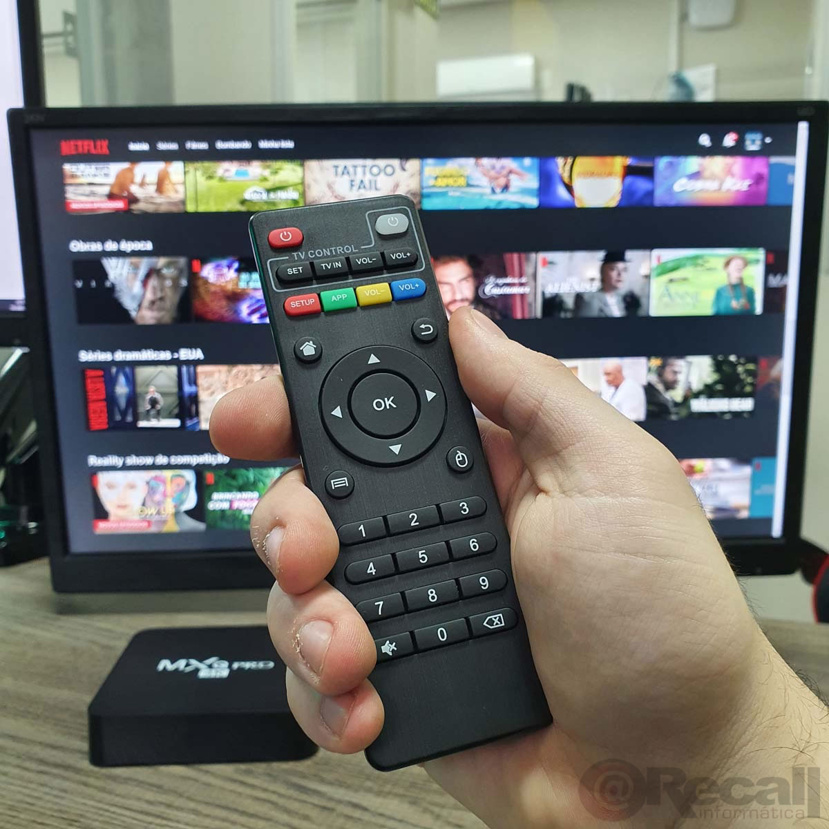 Controle Remoto Para TV BOX MXQ Pro TVbox