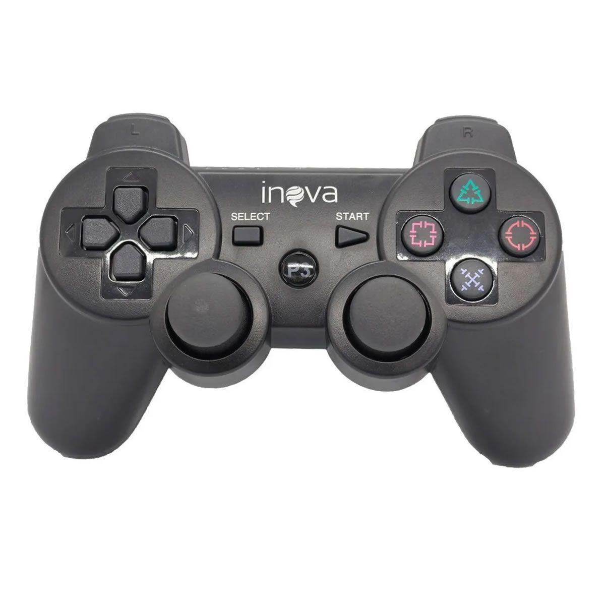 Joystick Controle sem Fio para PS3 Inova