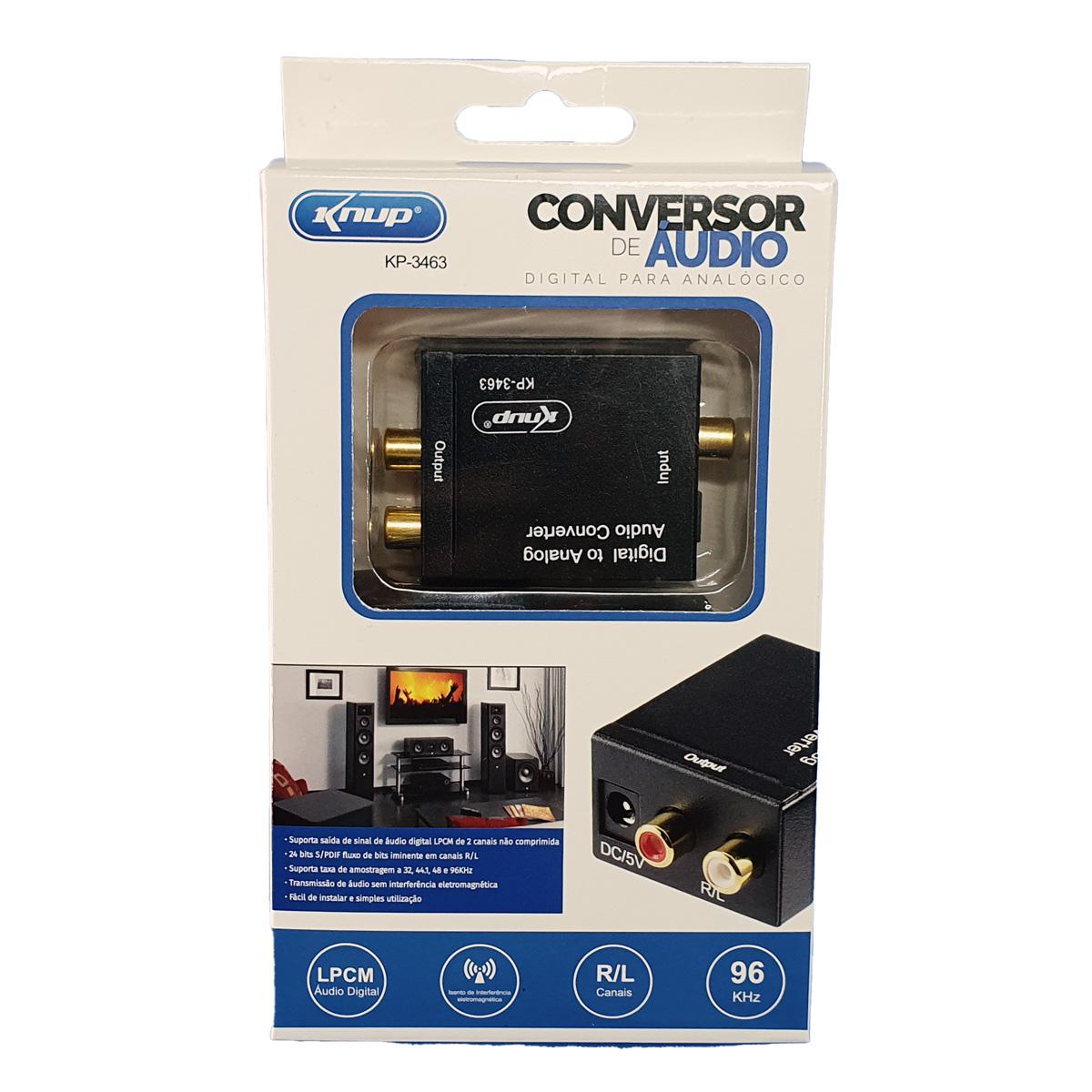 Conversor de Áudio Digital para Analógico KP-3463 Knup