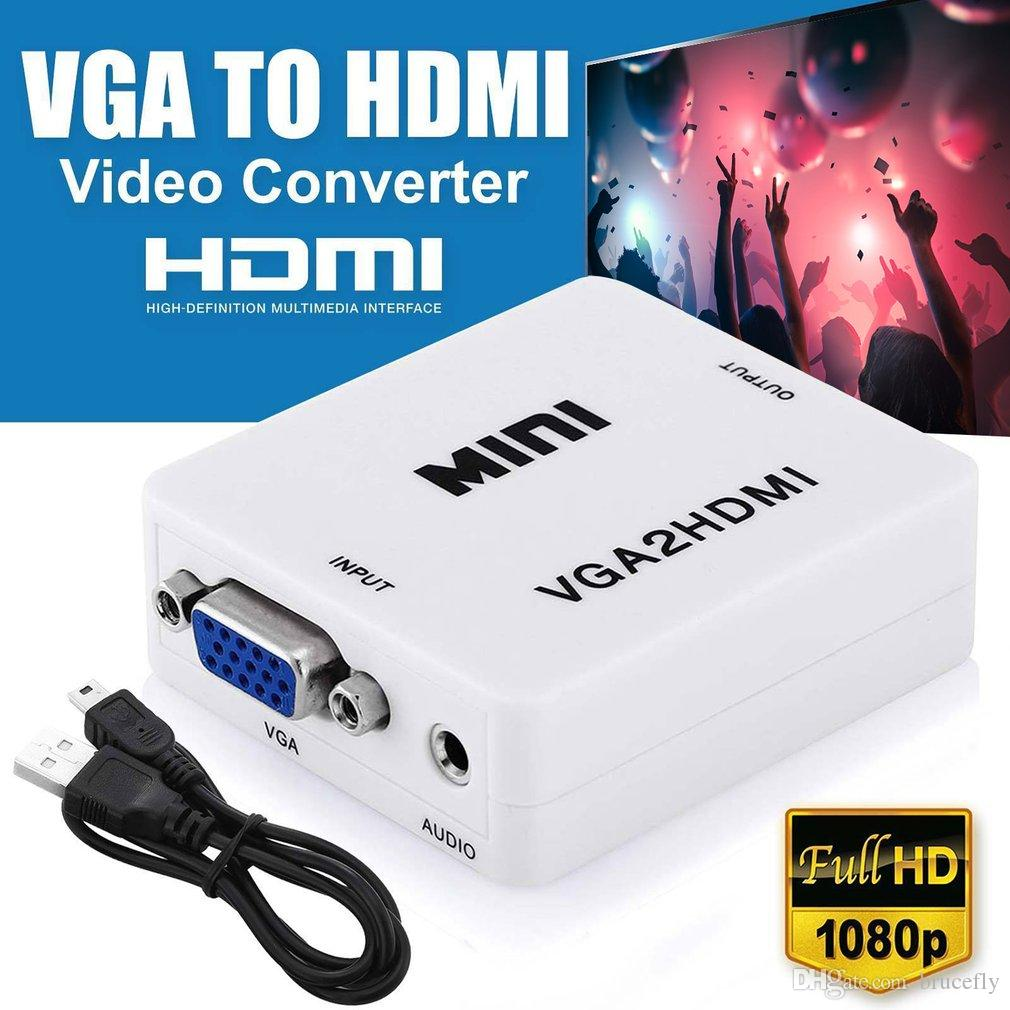 Conversor HD Vídeo VGA X HDMI VGA2HDMI