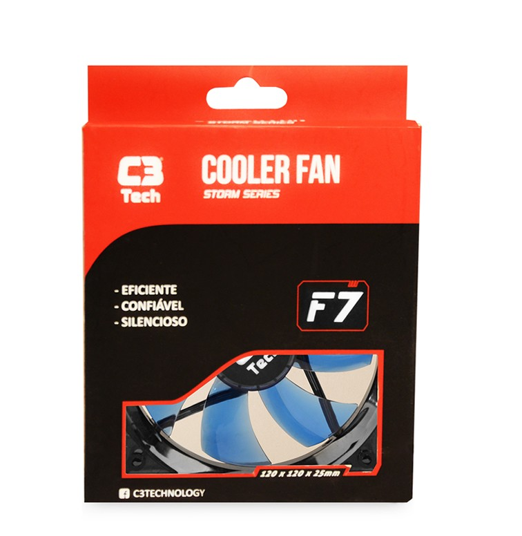 Cooler FAN C3Tech Storm 120mm F7-L100BL