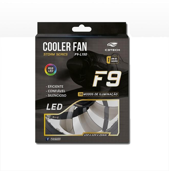Cooler FAN RGB C3Tech Storm 120mm F9-L150RGB