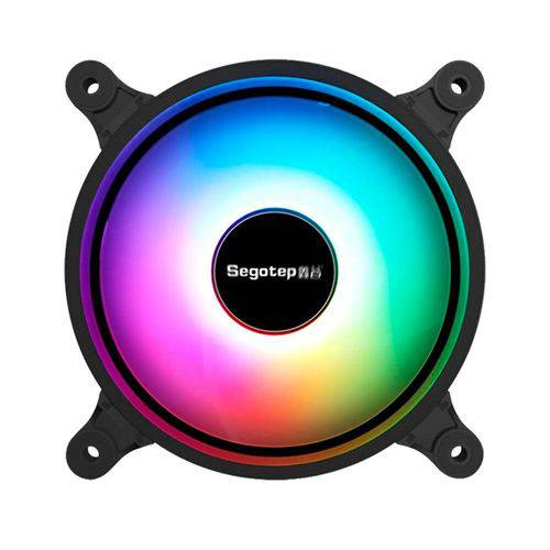 Cooler FAN RGB para gabinete gamer Segotep  120mm GX-12S