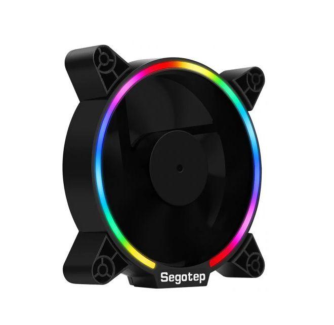 Cooler para Gabinete 120mm RGB Gamer Segotep 12