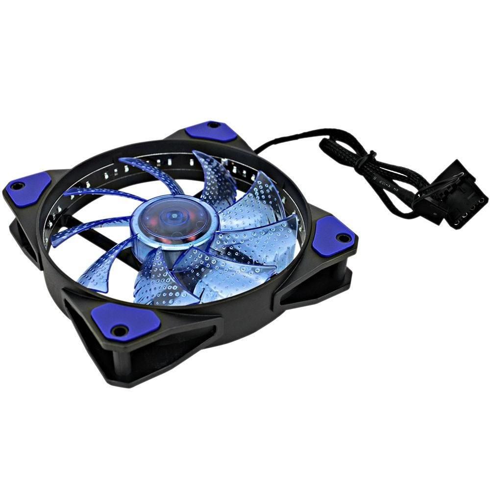 Cooler para Gabinete Gamer 120mm 32 LED Azul GMX-GF12B Gamemax
