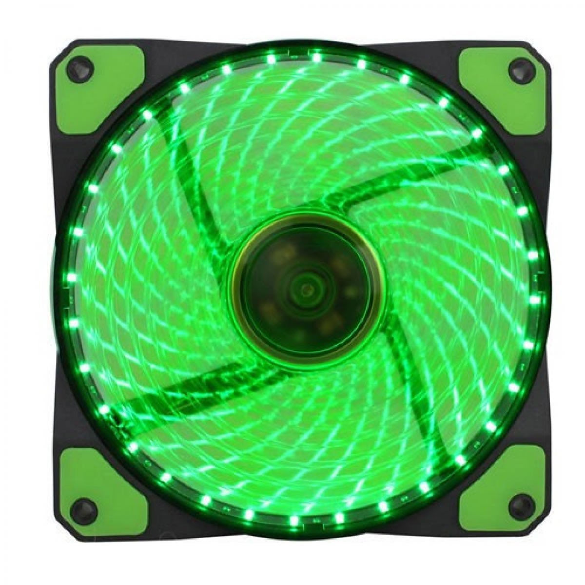 Cooler para Gabinete Gamer 120mm 32 LED Verde GMX-GF12G Gamemax