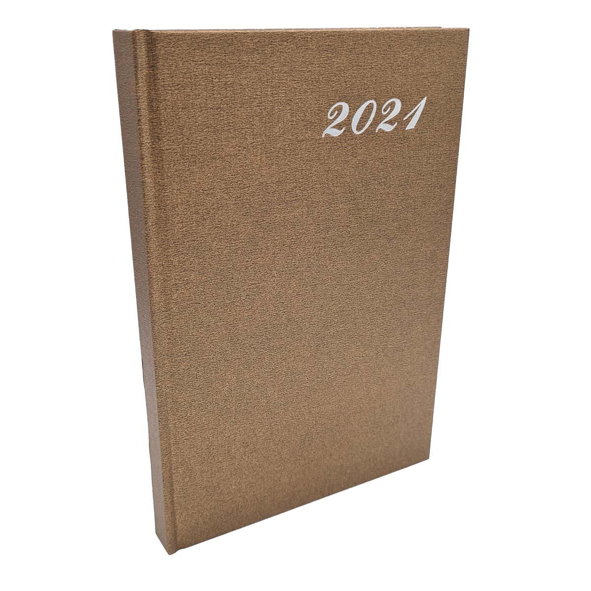 Agenda 2021 Diária A5 176 Folhas Capa Dura Dourada