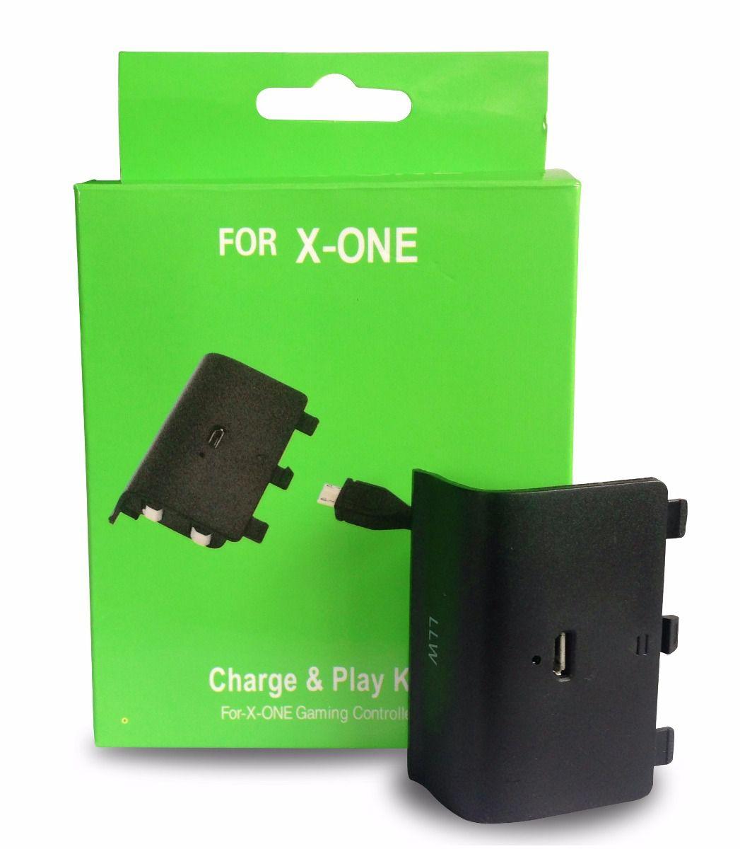 Kit bateria recarregável com carregador para controle Xbox One