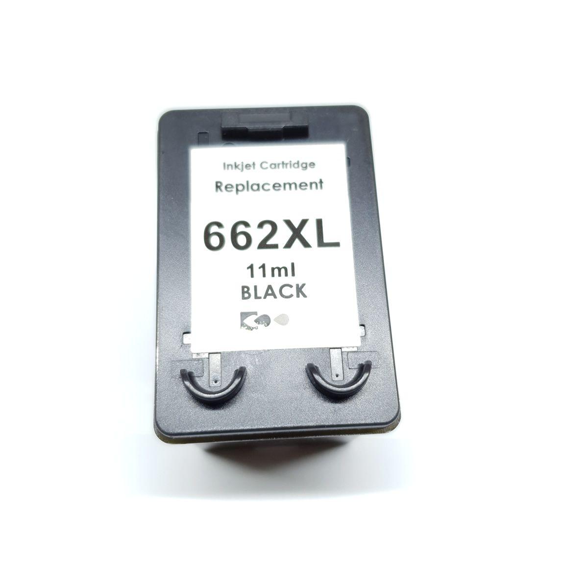 Cartucho MJ Compatível 662 662XL Preto 11ml para 2515 3516 da HP