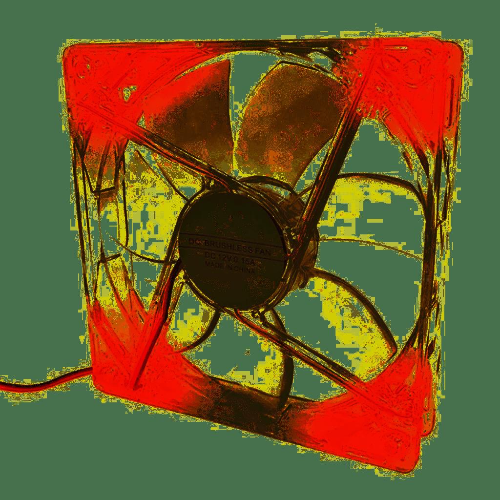 Cooler para Gabinete 120mm Led Vermelho Naja