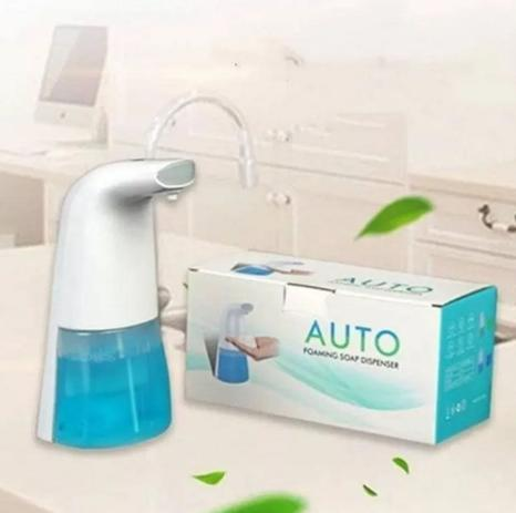 Dispenser Automático com Capacidade de 300ml para Água Sabonete Álcool em Gel