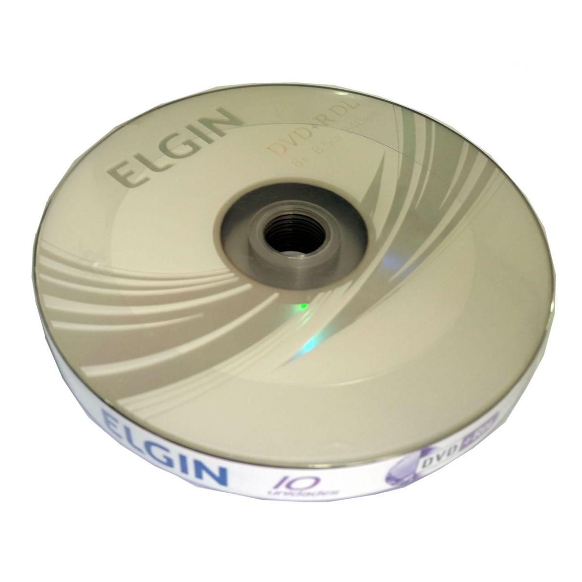 DVD+R DL Dual Layer 10 Mídias 8x 8.5GB 240min Umedisc Elgin