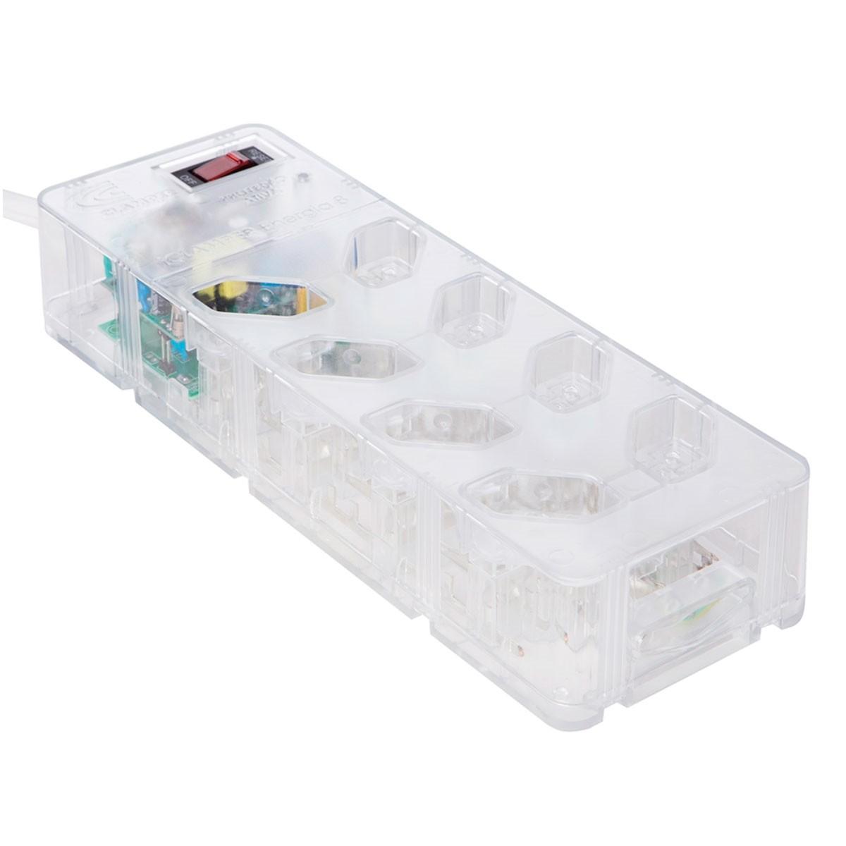 Filtro de Linha 8 Tomadas com Proteção DPS+ iClamper