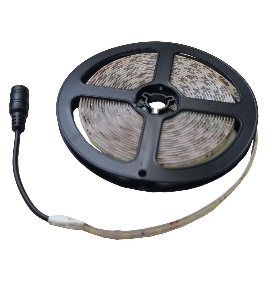 Fita LED 2835 Luz Branco Frio com 5 Metros e Proteção de silicone