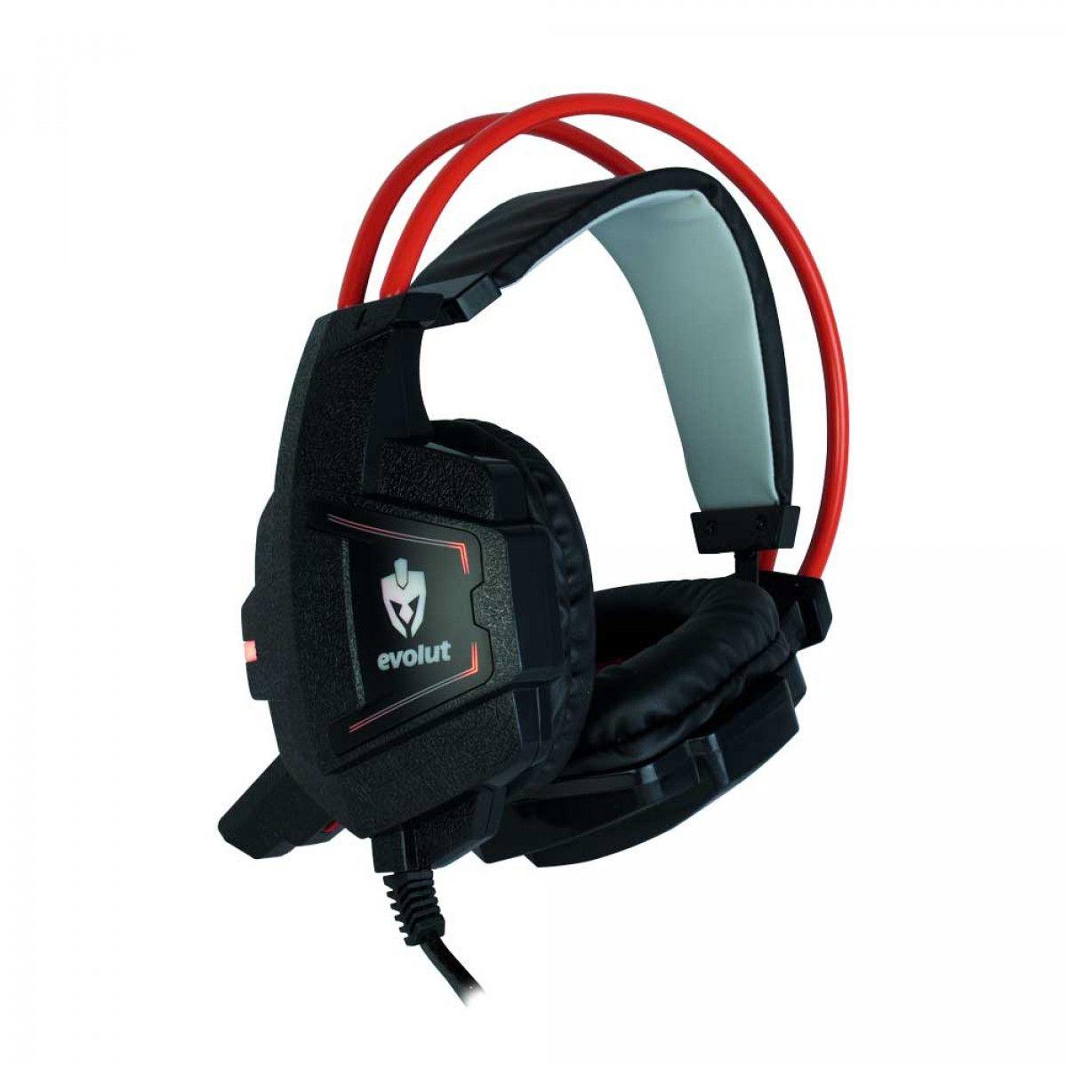 Fone de Ouvido com Microfone Gamer LED Evolut EG-303