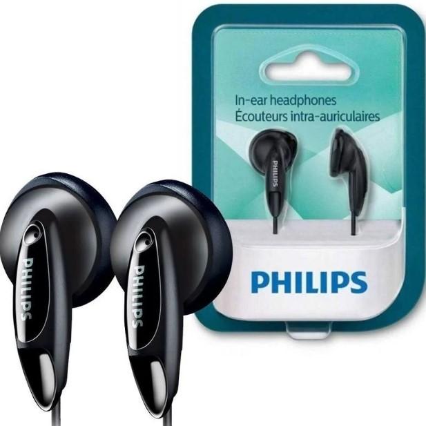 Fone de Ouvido Estéreo com Fio P2 1M Preto SHE1350 Philips