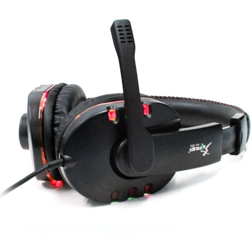 Fone de Ouvido Gamer Headset para PC USB Preto e Vermelho Knup KP-359