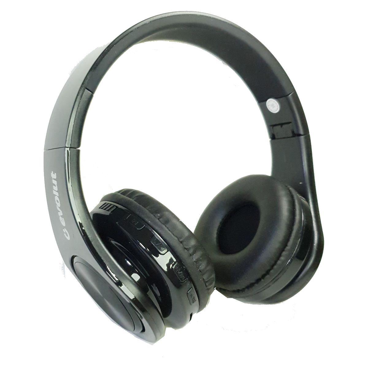 Fone de Ouvido HeadPhone Bluetooth EO-602BK Evolut
