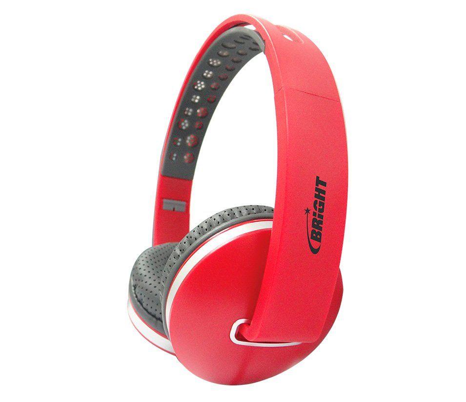 Fone de Ouvido Headphone Vermelho Colors Bright 0471
