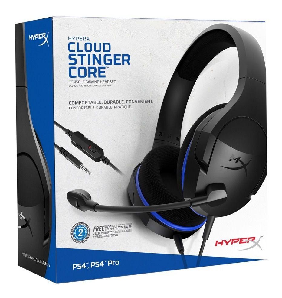Fone de Ouvido HeadSet Gamer Hyperx Cloud Stinger Preto