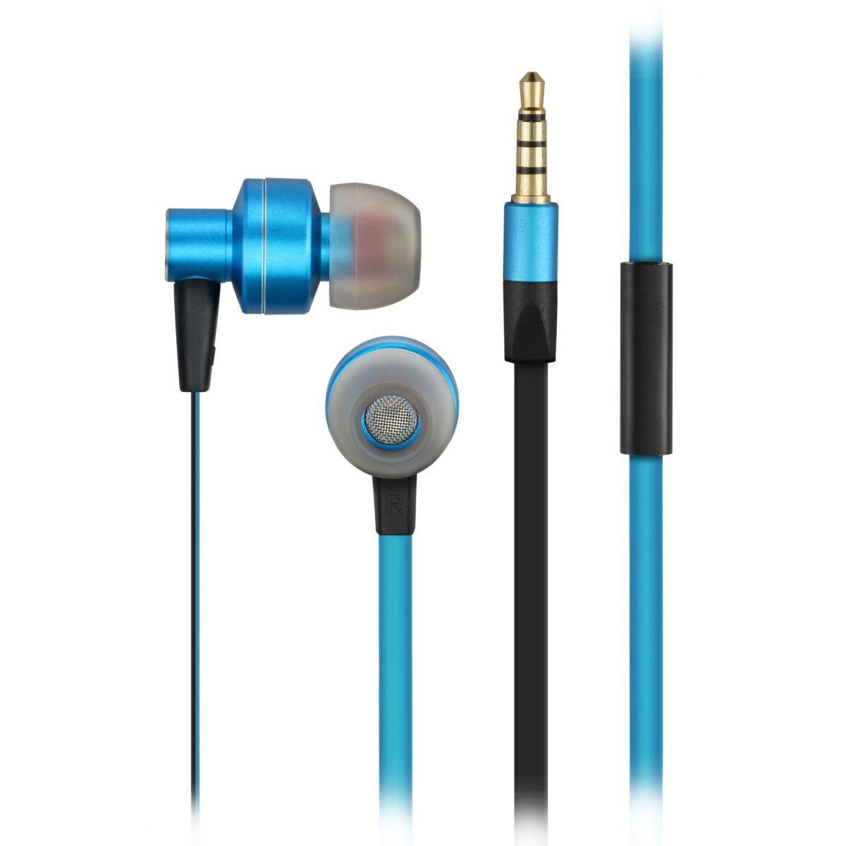 Fone de Ouvido Pulse com Microfone PH157 Multilaser Azul e Preto