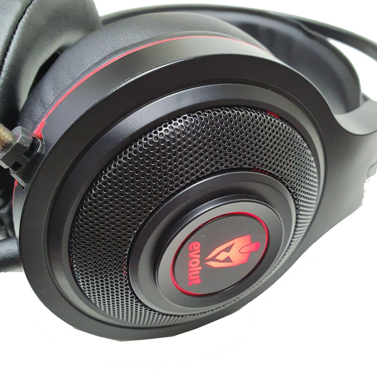 Fone de Ouvido Headset Gamer Vermelho EG301GR Têmis Evolut