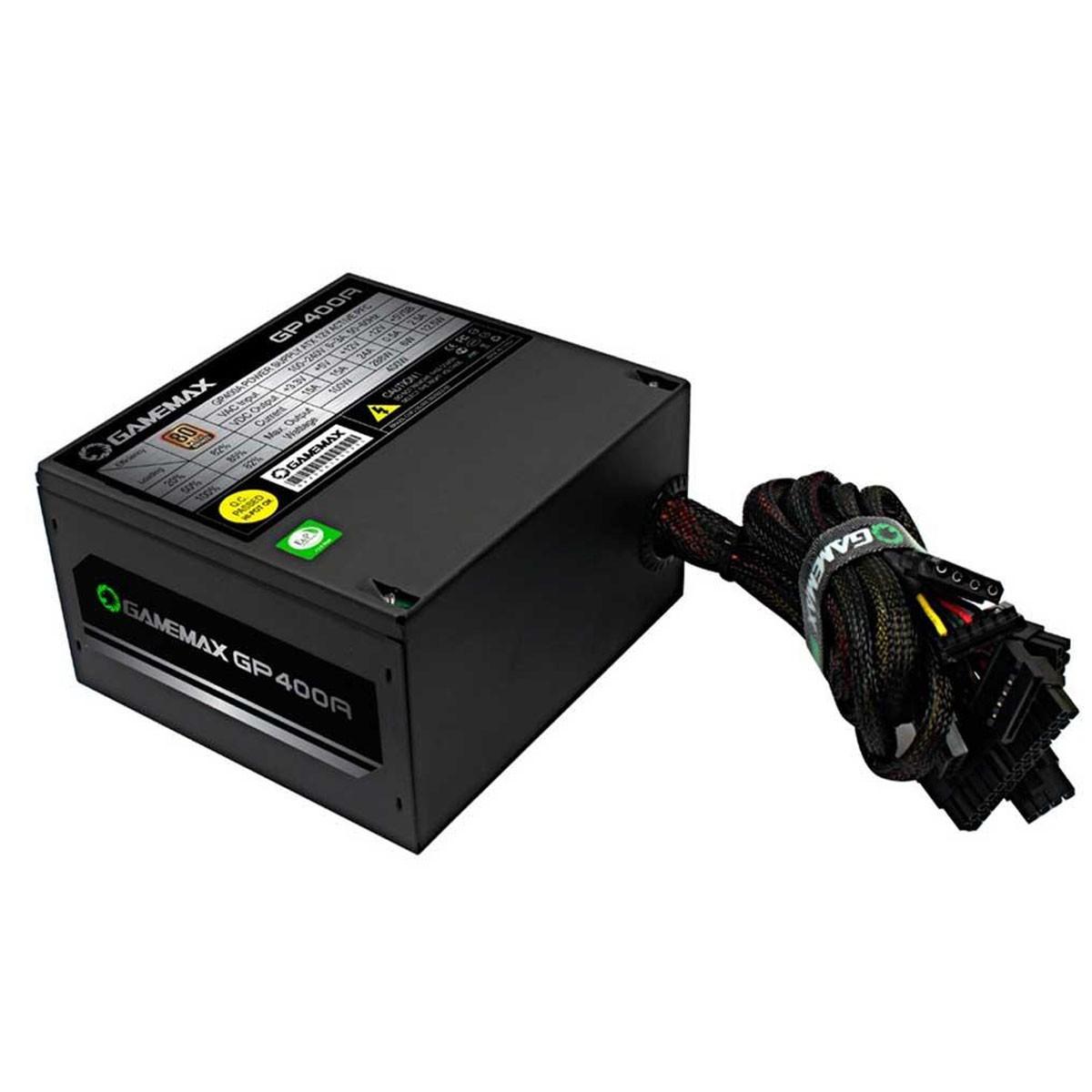 Fonte 400W 80 PLUS Bronze Gamemax GP400A para PC Gamer