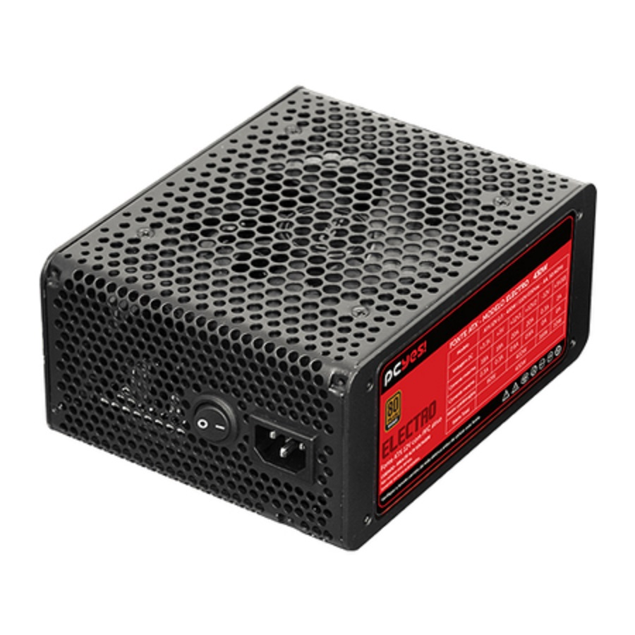 Fonte ATX 430W 80 Plus 20+4 Pinos Power Supply Electro PCYes