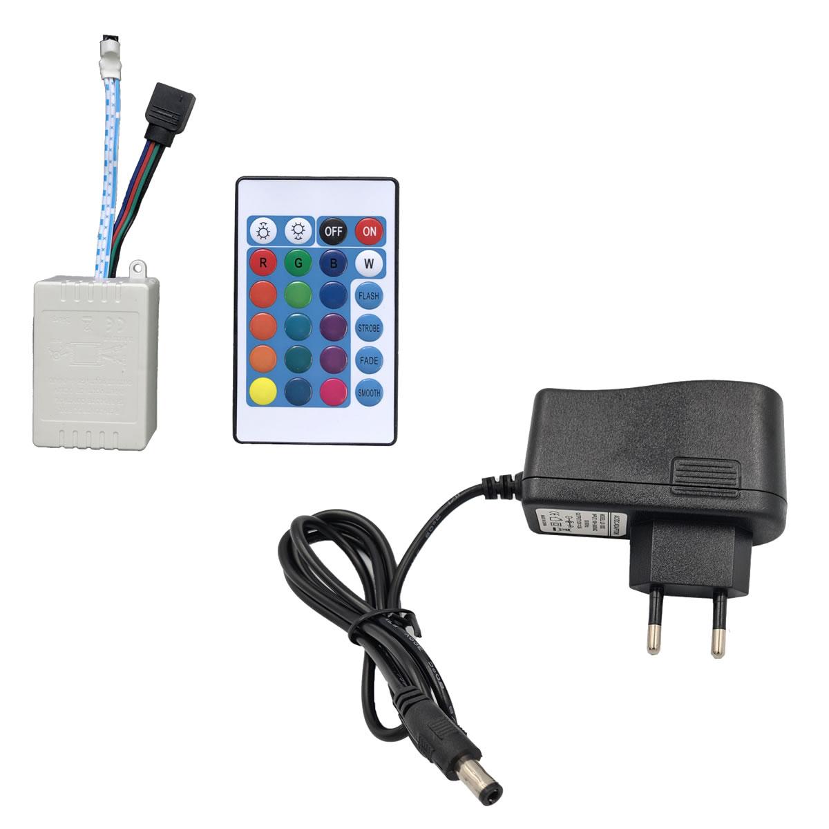 Fonte de 12V 2A e Controladora para Sobra de fita LED 5050 3528