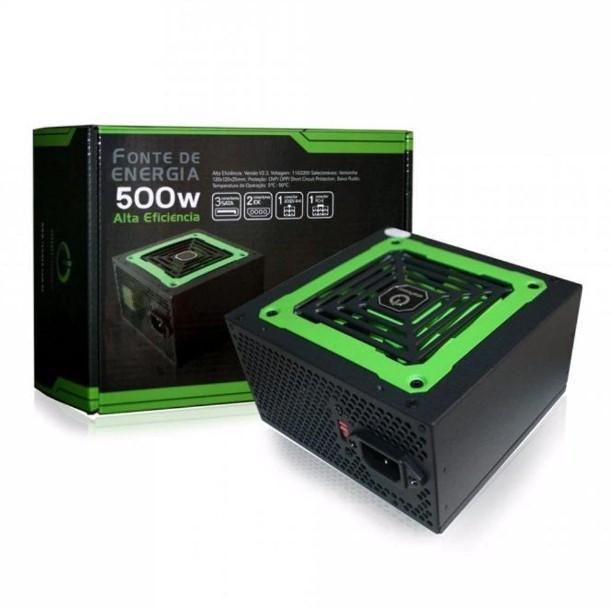 Fonte de Energia 500W Alta Eficiência MP500W3-I OnePower