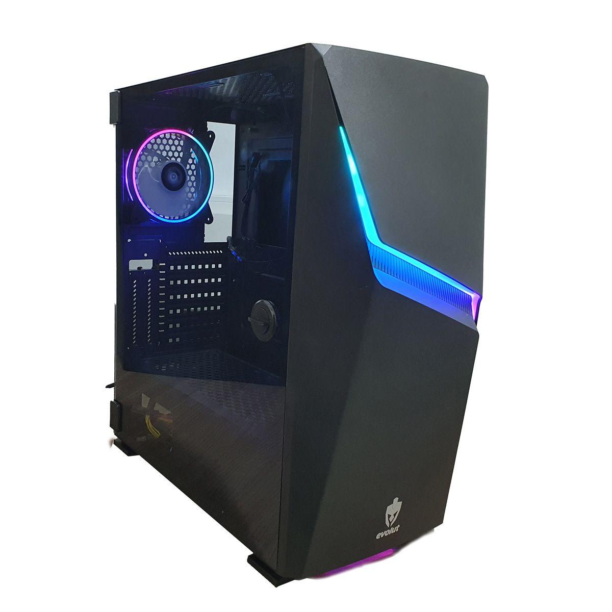 Gabinete para PC Gamer ASHE Evolut RGB Lateral em Vidro