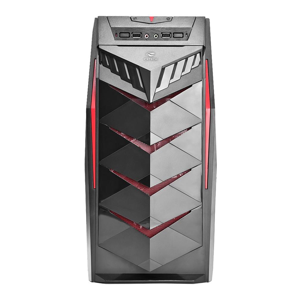 Gabinete ATX Gamer Black para PC MT-G70BK C3Tech