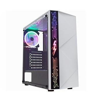 Gabinete Gamer Branco com Painel LED RGB Rainbow K-Mex